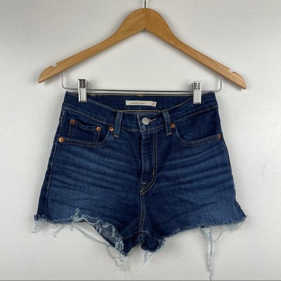 Levi's High Waisted Jean Shorts 25